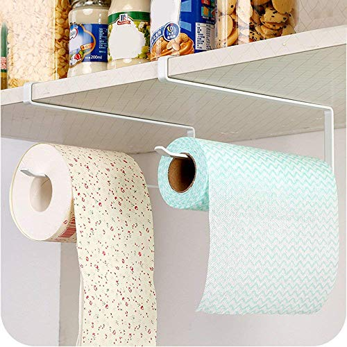 N / A AliCH Rollenhalter, Papier Handtuchhalter, Unterschrank Papierrollenhalter Rack,ängen Papierhandtuchhalter Kleiderbügel für Küche Badezimmer