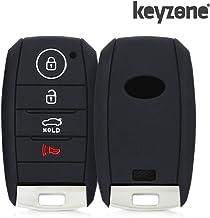 Keyzone® Silicone Key Cover for Kia Seltos Smart Key (Push Button Start Models) (Black)