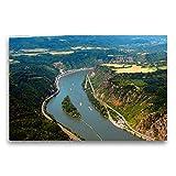 CALVENDO Premium Textil-Leinwand 75 x 50 cm Quer-Format Ehrenthal er Werth im Rhein bei Sankt Goar, Leinwanddruck von Monika Müller