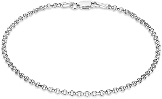 925 Sterling Silver 2mm-5.8mm Italian Crafted Rolo Cable Link Chain 16