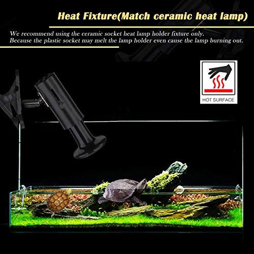 Wuhostam 50W 2 Pack Ceramic Heat Lamp,Black Infrared Bulb Emitter Lamp for Pet Coop Heater Reptile Chicken Lizard Turtle Brooder Bulb Temperature Adjustable No Harm No Light ETL Listed