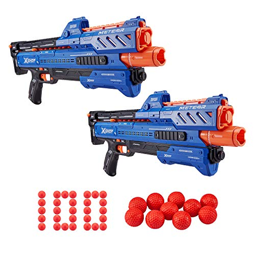 Zuru X-shot Chaos Orbit Dart Ball Blaster (100 Rounds) - Double Blaster Pack by Zuru