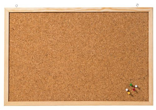 Franken CC-KT60100 Korktafel Naturrahmen, 60 x 100 cm