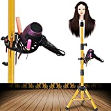 55 Inch Wig Stand Tripod - Adjustable Mannequin Head Stand Tripod Stainless Steel Wig Tripod Stand Wig Head Stand Tripod with Tool Tray (Mannequin Head Not Included)