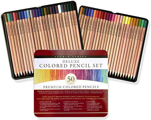 new coloring pencils for adults Studio Series Deluxe Colored Pencil Set (Set of 50)