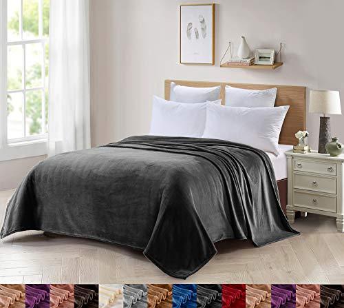 Foren Tex Manta para sofá y Cama de Franela (L-3100) 300GMS Sin Pelusas No Suelta Pelo Tacto Suave y Cálida Varios Tamaños y Colores (180x220cm)