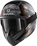 Shark Casque moto VANCORE 2 FLARE MAT KAO, Noir/Orange, M