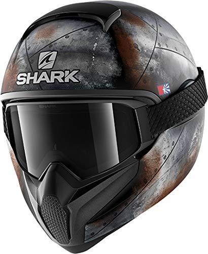 Shark NC Casco de Motociclismo, Hombre, Noir/Naranja, M