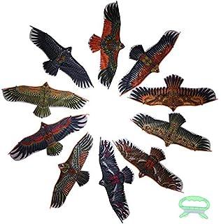 Pipa Águia plana com linha de pipa de 30 metros para crianças, pássaro voador