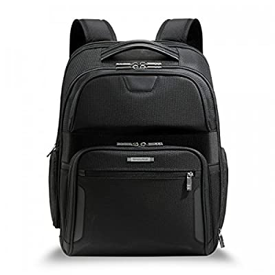 Briggs & Riley @Work Luggage Clamshell Backpack, Black, One Size