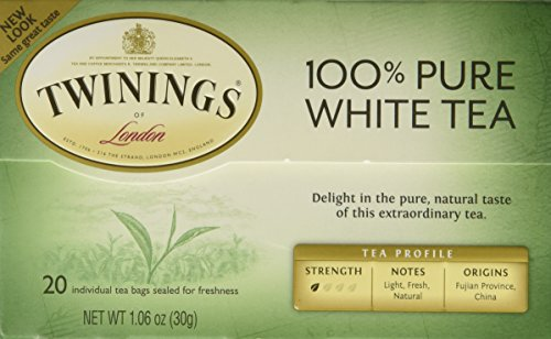 Twinings of London 'Fujian Chinese Pure White Tea' : Box of 20 Tea Bags