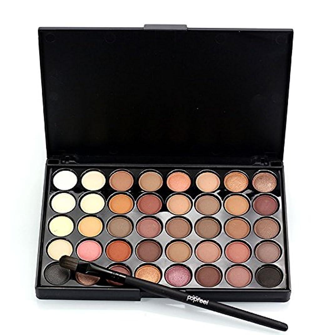 ピン後継熟す1pcs Eyes Brush Eye Shadow Makeup Brushes + 40 Colors Eyeshadow Palette Natural Face Matte Camouflage Cosmetic Kit (#01)