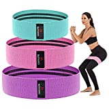 Hayousui Exercise Resistance Bands for Women - Hip Booty Bands Stretch Workout Bands Cotton Resistance Band for Legs and Butt Body Yoga Pilates Muscle Training