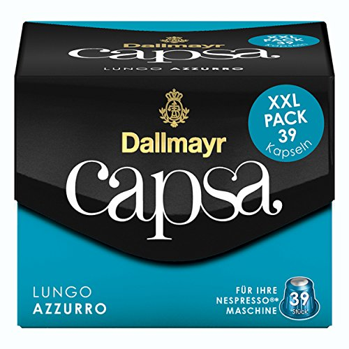 Dallmayr Capsa Lungo Azzurro XXL Nespresso Kompatibel Kapsel, Röstkaffee, Kaffee, 195 Kapseln á 5.6 g