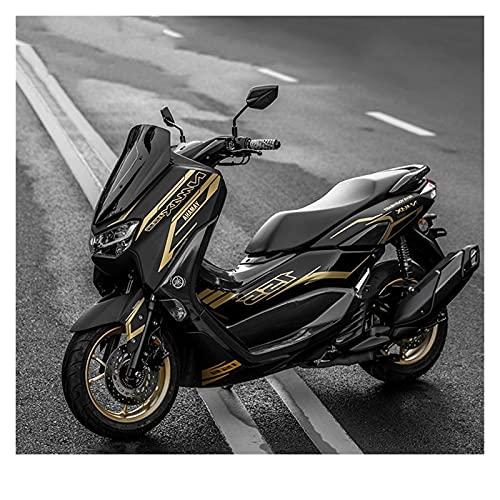 para Y-AMAHA NMAX155 2020 Motocicleta Cuerpo Carenado Pegatina Calcomanías Protector Calcomanía Impermeable (Color : Orange)
