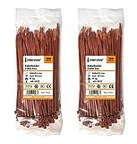 intervisio Juego Bridas de Plastico para Cables 200mm x 3,6mm / Color Marrón / 200 Piezas de Colores Marrones