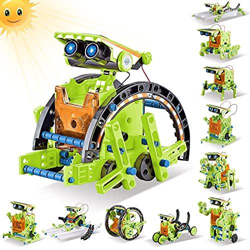 HISTOYE 12-in-1 STEM Solar Robot Building Kit for Kids 6-8 Robot Engineering Science Experiments Kit...