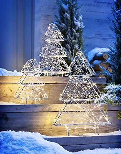 fys XL Outdoor Tanne 3er Set LED Beleuchtung Lichterkette Weihnachts Deko Stern Baum