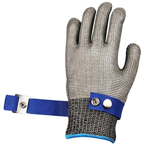 Schnittfeste Handschuhe 316L Anti-Schneidhandschuhe, 5-stufige Schutzsicherheits-Arbeitshandschuhe, Outdoor-Kochen Und Angeln-Schneidhandschuhe, Weich Und Atmungsaktiv (Size : Small)