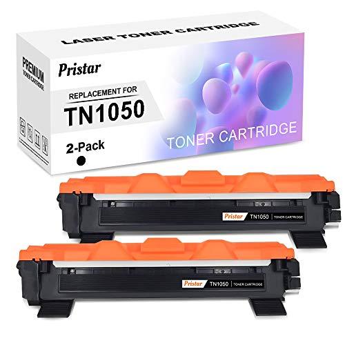 Pristar Compatible Cartucho de Tóner para Brother TN1050 TN-1050 TN 1050 Toner para Brother HL-1110 HL-1112 HL-1210W HL-1212W MFC-1810 MFC-1910W DCP-1510 DCP-1610W DCP-1612W Impresoras, 2-Negro