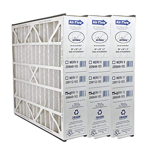 Trion 266649-103 Air Bear 20 x 20 x 5 Inch MERV 13 High Performance Air Purifier Filter Replacement 4 Pack for Air Bear Supreme, Right Angle, and Cub Air Cleaner Purification Systems
