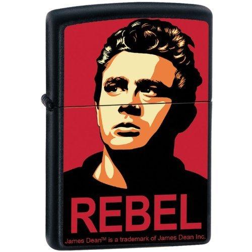 Zippo Custom Lighter  James Dean Actor REBEL Obey Design  RARE