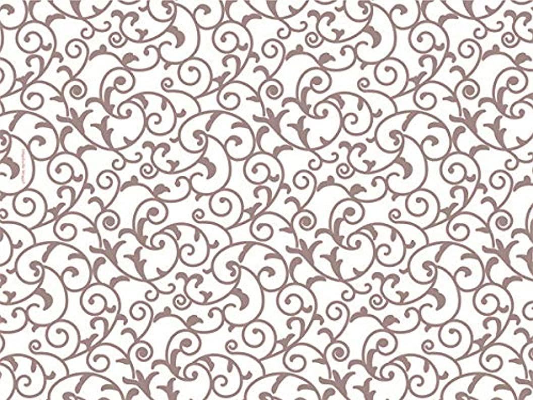 Rose Gold & Ivory White Scroll Tissue Paper 20 Inch X 30 Inch - 24 Sheets oifadjswonf71