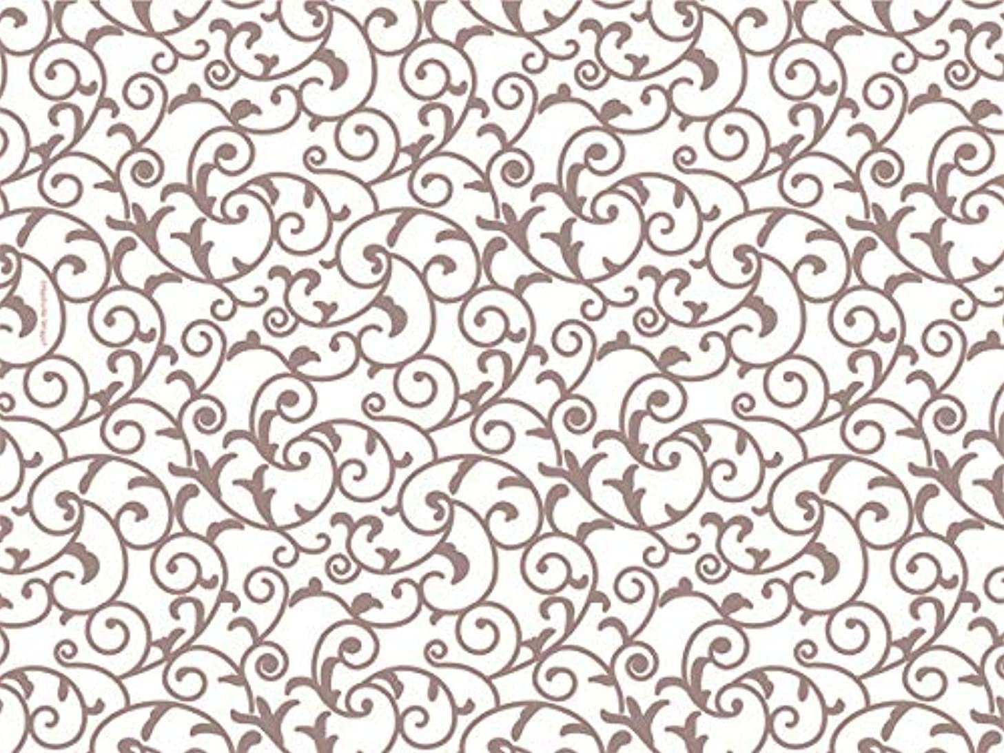 Rose Gold & Ivory White Scroll Tissue Paper 20 Inch X 30 Inch - 24 Sheets