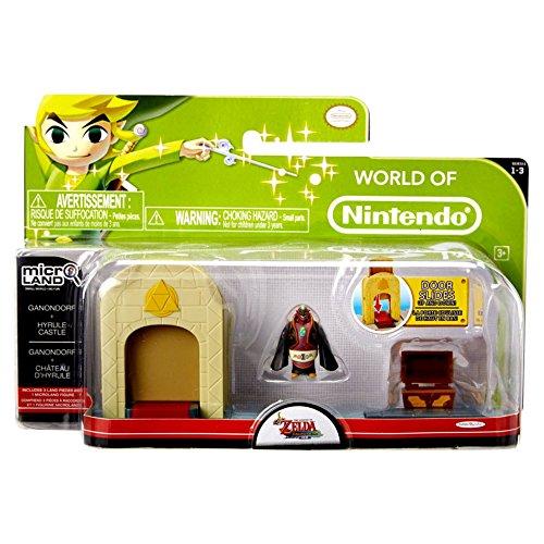 Nintendo JAKKNIN028CG - World of Micro Land Zelda Playset - Castle mit Ganondorf Figure