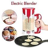 Dispenser per impastatrice a batteria, Dispenser per batteria elettrica a batteria senza fili Pancake Cupcake Waffle Batter Maker Machine