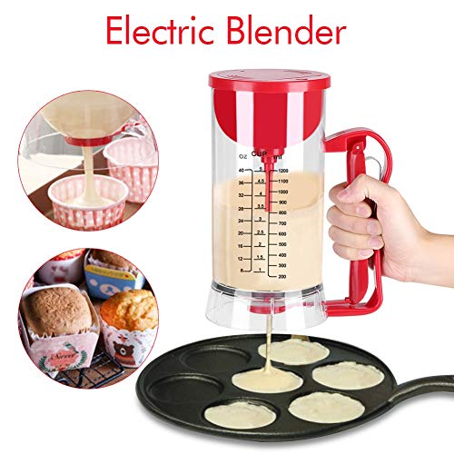 Batter Mixer Dispenser, accu-elektrische mixer op batterijen werkende mixer Dispenser Pancake Cupcake Waffel Batter Maker Machine