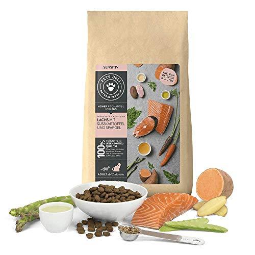 PETS DELI - NATURAL PET FOOD Sensitiv Trockenfutter für Katzen | Lachs mit Süßkartoffel und Spargel | 400g