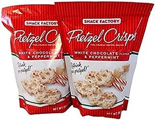 Snack Factory Pretzel Crisps White Chocolate & Peppermint Flavor Limited Value Pack (2 X 20 Oz Bag)