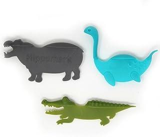 動物 しおり 3種 セット ワニ カバ ネッシー おもしろ かわいい 立体 付箋 ブックマーク