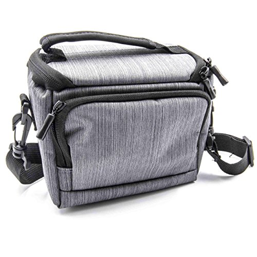 vhbw Polyester Foto-Tasche grau passend für Kamera Sony Alpha 3000, 5000, 5100, 6000, A3000, A5000, A5100, A6000, A68