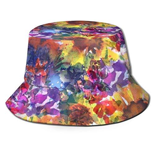 Preisvergleich Produktbild Rainy Day Sunflower Garden Fischerhut Flat Top Atmungsaktive Eimerhüte Unisex Fashion Sun Hat Summer