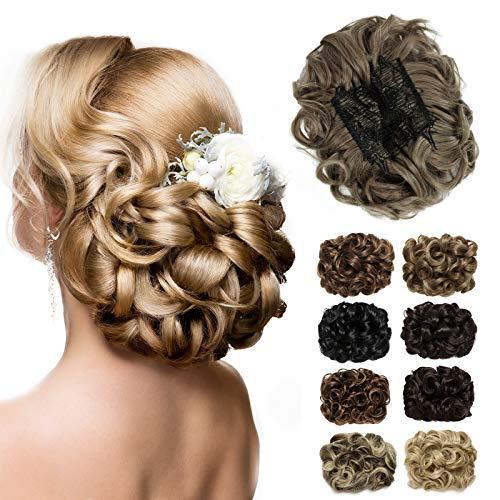 Yamel Messy Bun Scrunchie Chignon Hairpiece Updo Curly Bun Extension Combs in Messy Bun Hair Piece for Women