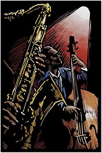 YYTOOF Único Jazz Band - Scratchboard (Rompecabezas Premium de 500 Piezas para Adultos 52*38cm Hecho en EE. UU.)