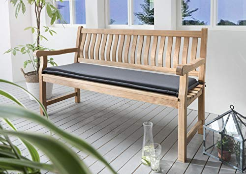 Destiny Bankpolster 170 cm *GRAU * Kissen Auflage für Gartenbank Bank Polster Neu (3017128)