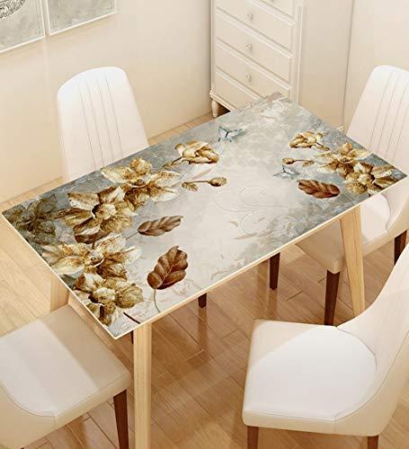 YUDEYU Rechteck PVC Tischdecke Wasserdicht Filet 3D-Effektmuster Tischset Einfach Zu Säubern (Color : C, Size : 70X140CM)