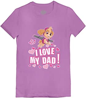 Paw Patrol Skye - I Love My Dad Father's Day Toddler/Kids Girls' Fitted T-Shirt