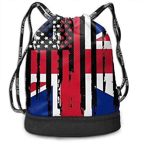 jenny-shop Abstract American British Flag Drawstring Bag Moc