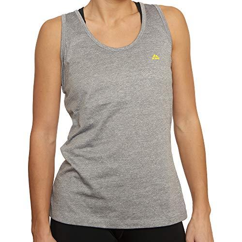 DANISH ENDURANCE Women\'s Fitness Tank Top (Grau Melange, Large)
