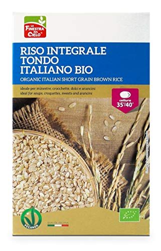 LA FINESTRA SUL CIELO Riso Integrale Tondo Italiano Bio - 1000 g