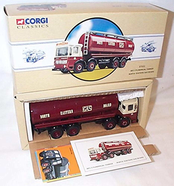 Corgi classic deep red cream AEC cylindrical tanker lorry 1.50 scale diecast model