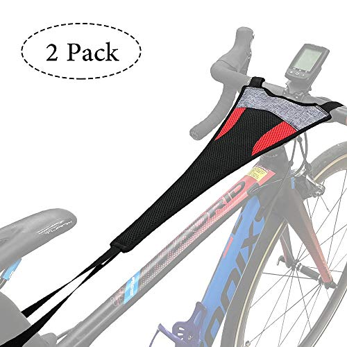 Thinvik [2-Pack] Bike Frame Sweat Guard Sweat Absorbs Prevent Bicycle from Corrosion for Bicycle Trainer Indoor Cycling Training