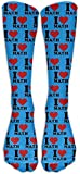 zhouyongz I Love Math - Calcetines deportivos unisex de alta calidad para pantorrilla, calcetines de tubo Fashional, talla 6-10
