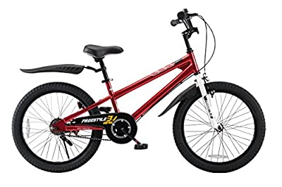 RoyalBaby Freestyle Kid's Bike for Boys and Girls, 20 inch with Kickstand, Red