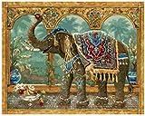 XYIDAI Madera Rompecabezas for Adultos, 1000 Pieza Elefante Sagrado India Imagen Muy desafiante for Adultos y Adolescente Ocasional