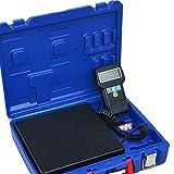 HUKOER Báscula electrónica de Carga de refrigerante con Calibración de precisión electrónica, Carga máxima 100 KG